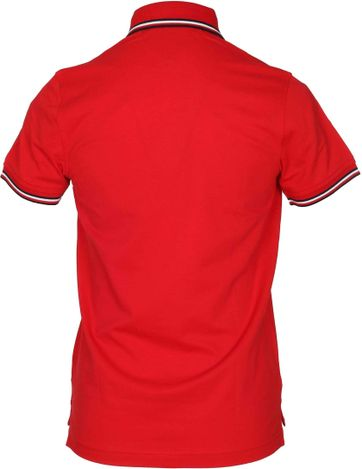 Detail Tommy Hilfiger Polo Uni Rot