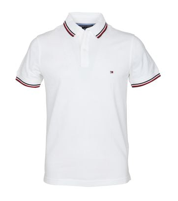 Tommy Hilfiger Polo Uni Wit