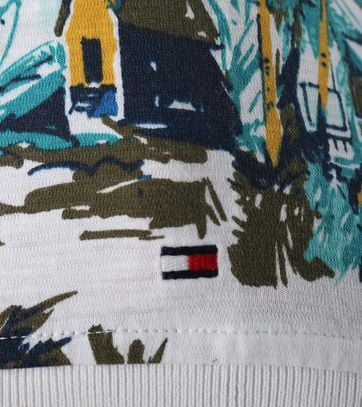 Detail Tommy Hilfiger Polo Wit Print