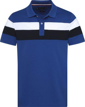 Tommy Hilfiger Poloshirt RF Stripe Mid Blue
