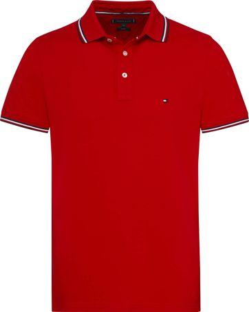Tommy Hilfiger Poloshirt Streifen Rot