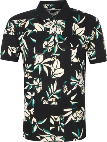 Tommy Hilfiger Poloshirt Zwart Bloemen