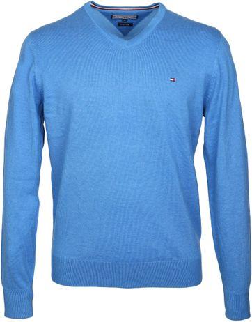 Tommy Hilfiger Pullover Blau V-Ausschnitt