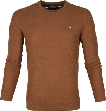 Tommy Hilfiger Pullover Honeycomb Bruin