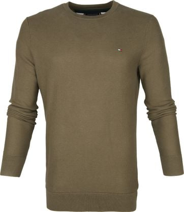 Tommy Hilfiger Pullover Honeycomb Groen