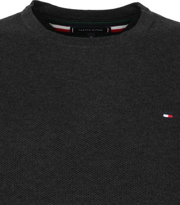 Tommy Hilfiger Pullover Honeycomb O-Hals Antraciet
