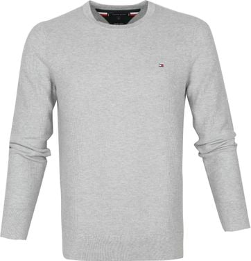 Tommy Hilfiger Pullover Honeycomb O-Neck Grau