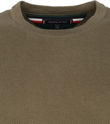 Tommy Hilfiger Pullover Honeycomb O-Neck Olive