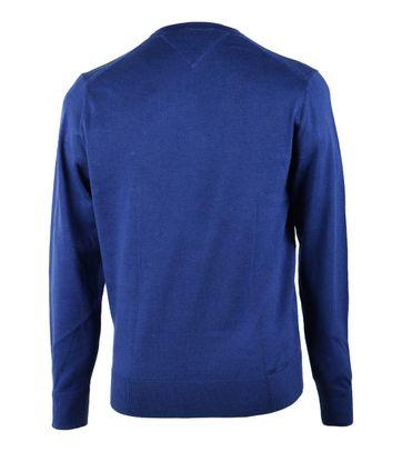 Detail Tommy Hilfiger Pullover Kobalt Blauw