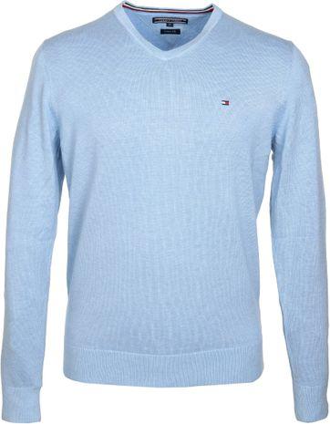 Tommy Hilfiger Pullover Licht blauw V-Hals