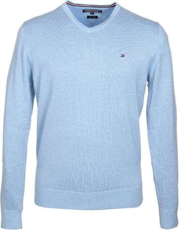 Tommy Hilfiger Pullover Light Blue V-Neck