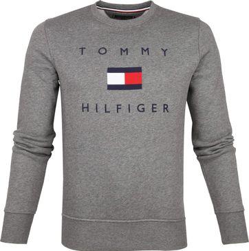 Tommy Hilfiger Pullover Logo Grau