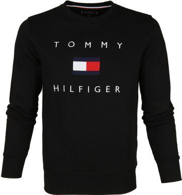 Tommy Hilfiger Pullover Logo Schwarz
