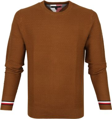 Tommy Hilfiger Pullover O-Hals Cognac