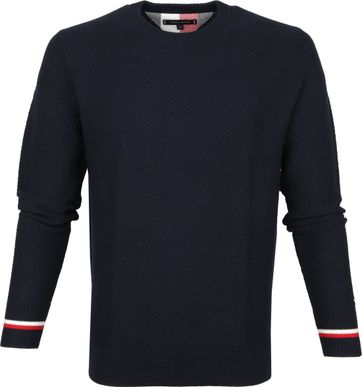 Tommy Hilfiger Pullover O-Hals Donkerblauw