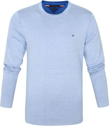 Tommy Hilfiger Pullover Organic Cotton Light Blue