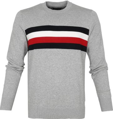 Tommy Hilfiger Pullover Stripes O-Neck Grey