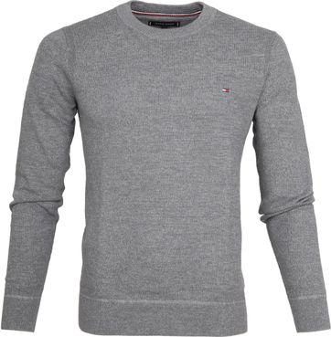 Tommy Hilfiger Pullover Struct Grau