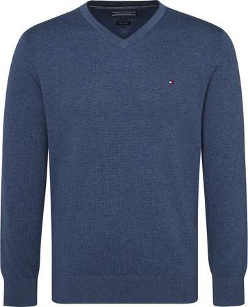 Tommy Hilfiger Pullover V-Ausschnitt Indigo Blau
