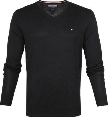 Tommy Hilfiger Pullover V-Ausschnitt Schwarz