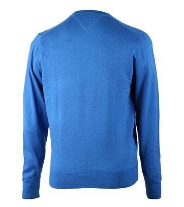 Detail Tommy Hilfiger Pullover V-Hals Blauw