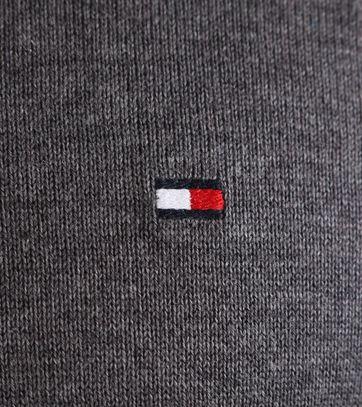 Detail Tommy Hilfiger Pullover V-Hals Donkergrijs