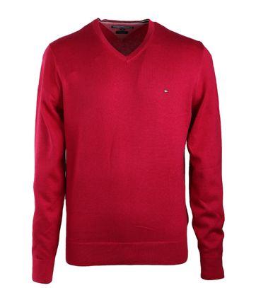 Tommy Hilfiger Pullover V-Hals Fuchsia