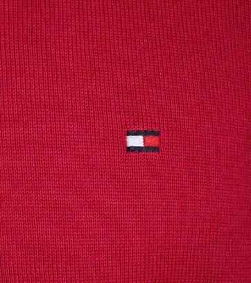 Detail Tommy Hilfiger Pullover V-Hals Fuchsia