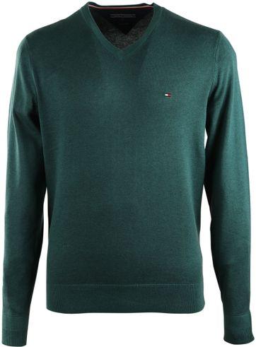 Tommy Hilfiger Pullover V-Hals Groen