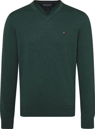 Tommy Hilfiger Pullover V-Neck Dark Green