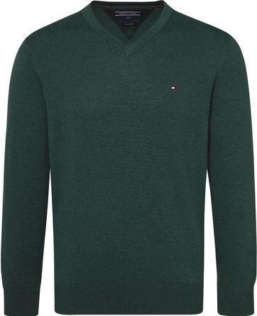 Tommy Hilfiger Pullover V-Neck Dark Green
