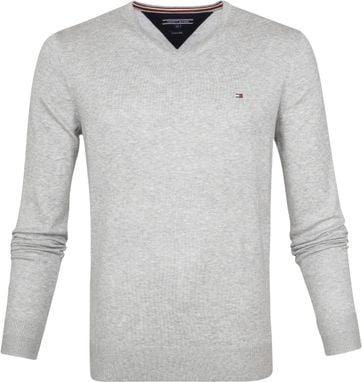 Tommy Hilfiger Pullover V-Neck Light Grey