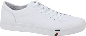 Tommy Hilfiger Schoen Corporat Leather Wit