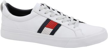 Tommy Hilfiger Schoen Flag Detail Leather Wit