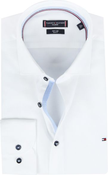 Tommy Hilfiger Shirt Blue White Dobby