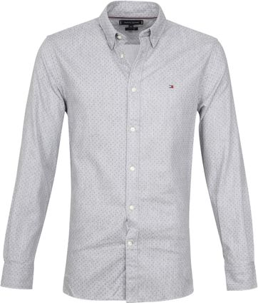 Tommy Hilfiger Shirt Flannel Dot Grey