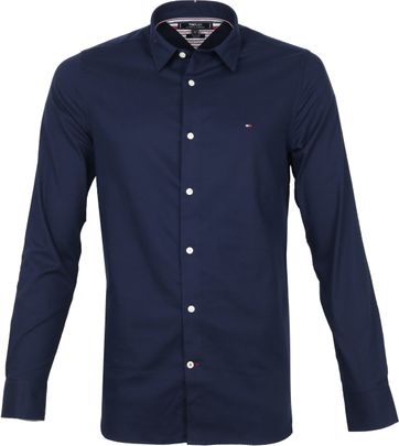 Tommy Hilfiger Shirt Herringbone Navy