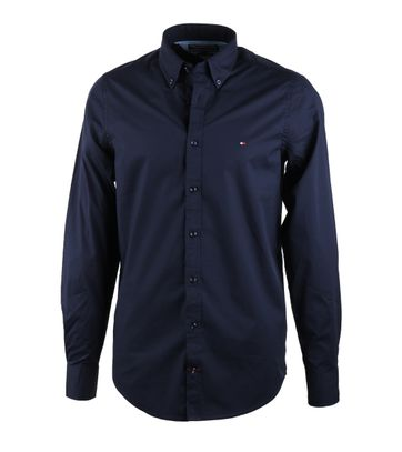 Tommy Hilfiger Shirt Stretch Donkerblauw
