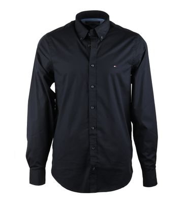 Tommy Hilfiger Shirt Stretch Zwart