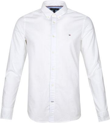 Tommy Hilfiger Slim Oxford Hemd Weiß