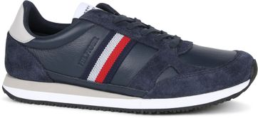 Tommy Hilfiger Sneaker Runner Stripes Donkerblauw