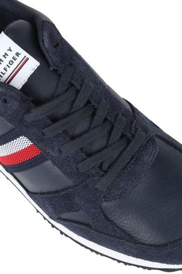 Tommy Hilfiger Sneaker Runner Stripes Donkerblauw