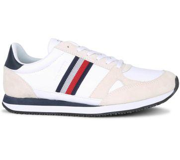 Tommy Hilfiger Sneaker Runner Stripes Weiß