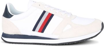 Tommy Hilfiger Sneaker Runner Stripes Wit