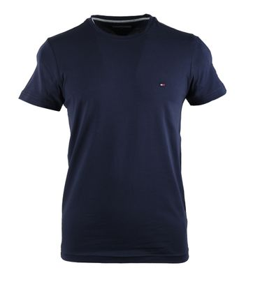 Tommy Hilfiger Stretch T-shirt Donkerblauw