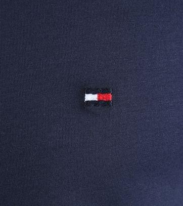 Detail Tommy Hilfiger Stretch T-shirt Donkerblauw