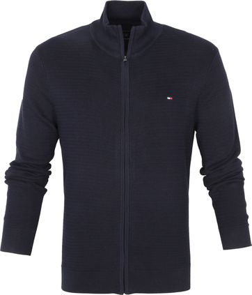 Tommy Hilfiger Strickjacke Zip Navy