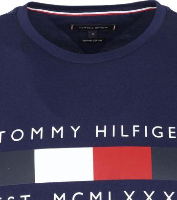 Tommy Hilfiger Stripe Yale T Shirt Navy