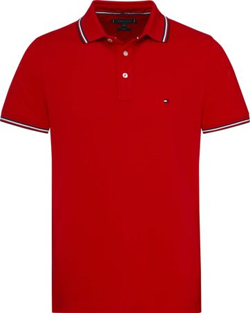 Tommy Hilfiger Stripes Poloshirt Red