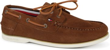 Tommy Hilfiger Suede Boat Shoe Brown